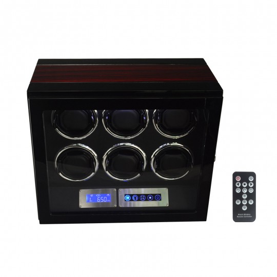Watch winder / urbevæger 6 ure - LCD display og lydsvag