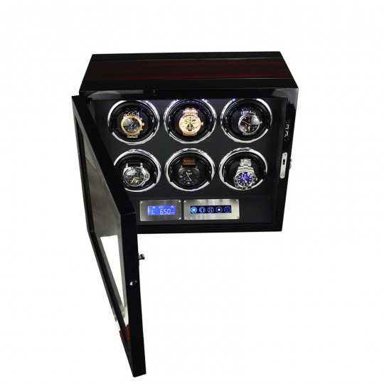 LINDENÆS watch winder / urbevæger 6 ure - LCD display og lydsvag