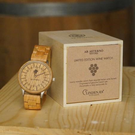 Wine Watch Silver træ ur 42 mm - eg fra vintønder
