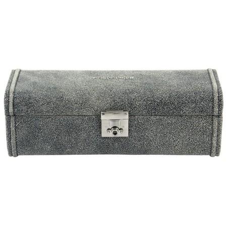 Friedrich urboks / urkasse i ægte rustik grå læder - til 4 ure