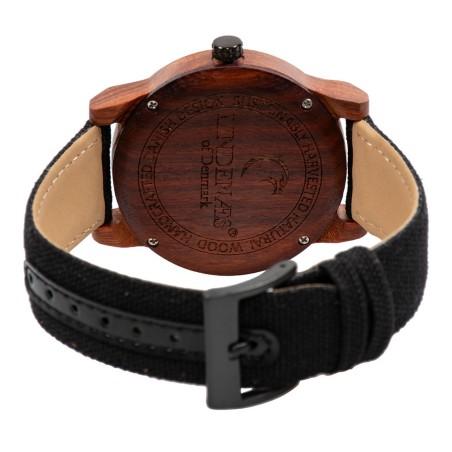 LINDENÆS Træ ur i bæredygtigt rød sandel træ - smart 45 mm herreur