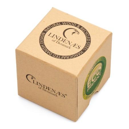 LINDENÆS Træ ur i naturligt oliven træ - trendy 43 mm kronograf herreur