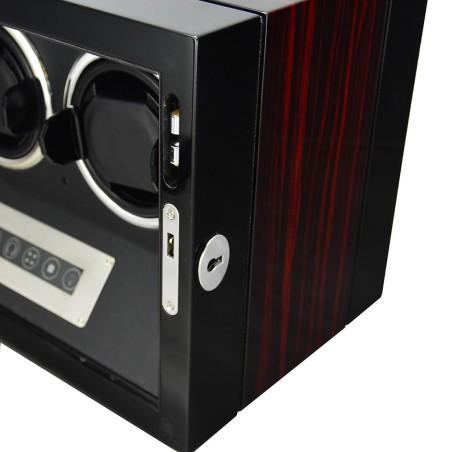 Watch winder / urbevæger 3 ure - LCD display og lydsvag
