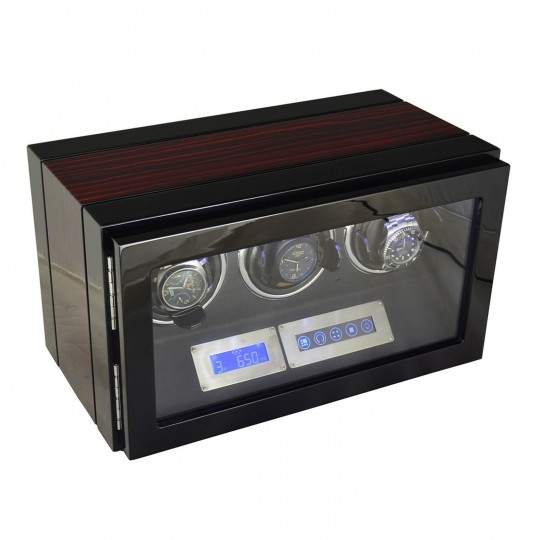 Watch winder / urbevæger 3 ure - LCD display og lydsvag