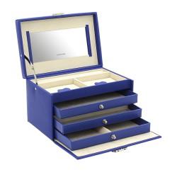 Friedrich smykkeskrin i flot kongeblå læder