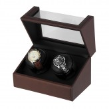 lindenaes-watch-winder-urbevaeger-2-ure-brun-pu-laeder