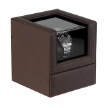lindenaes-watch-winder-urbevaeger-til-1-ur-mork-brun-laeder