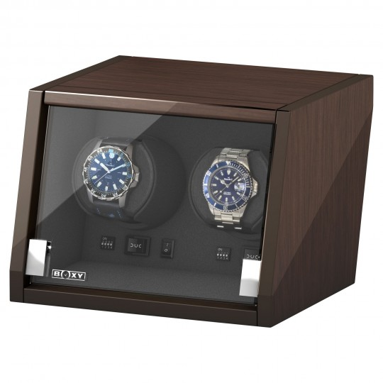 BECO watch winder Castle til 2 ure - valnød træ