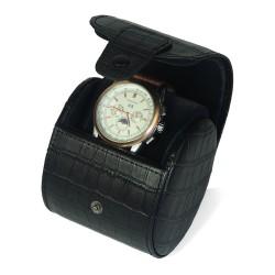 Rejse urboks i sort læder til 1 ur