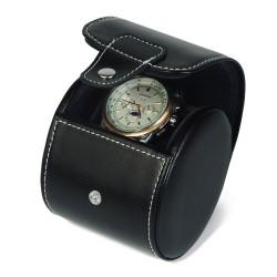 Rejse uretui i sort læder til 1 ur