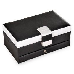 Sacher smykkeskrin sort læder i trendy design