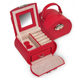 Smykkeskrin SACHER Girlie i rød trendy design