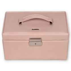 SACHER smykkeskrin Elly i trendy rosa farvet ægte læder