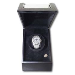 LINDENÆS luksus watch winder / urbevæger 1 ur - mat sort træ - 230V eller batteri
