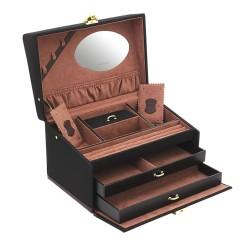 Friedrich Copenhagen flot smykkeskrin til mange smykker - spejl og tre skuffer