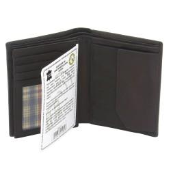 Friedrich ægte sort læder pung med RFID beskyttelse