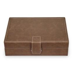 SACHER Ranch urboks i vintage look brun læder - opbevar 10 ure