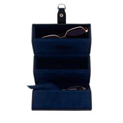 Friedrich brille etui i sort syntetlæder til 3 solbriller eller briller
