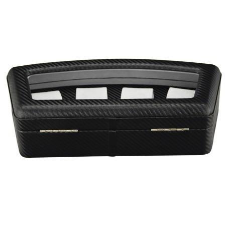 Urboks / urkasse til 4 ure, i sort carbon fiber læder