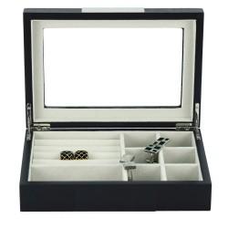 lindenaes-smykkeskrin-i-mat-sort-traefiner-med-rude
