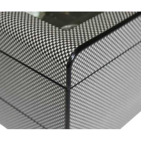 Urkasse / urboks til 8 ure - carbon fiber look med skuffe