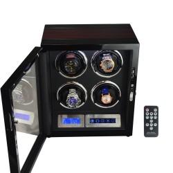 Watch winder / urbevæger 4 ure - LCD display og lydsvag