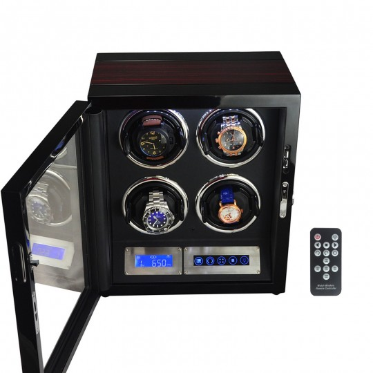 LINDENÆS watch winder / urbevæger 4 ure - LCD display og lydsvag