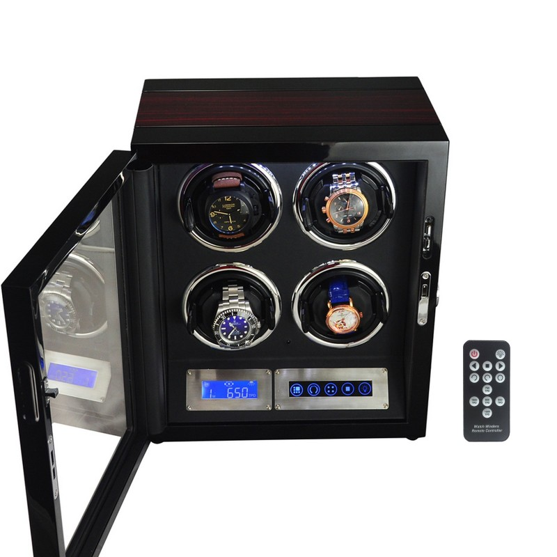 Watch winder / urbevæger 4 ure - LCD display og lydsvag