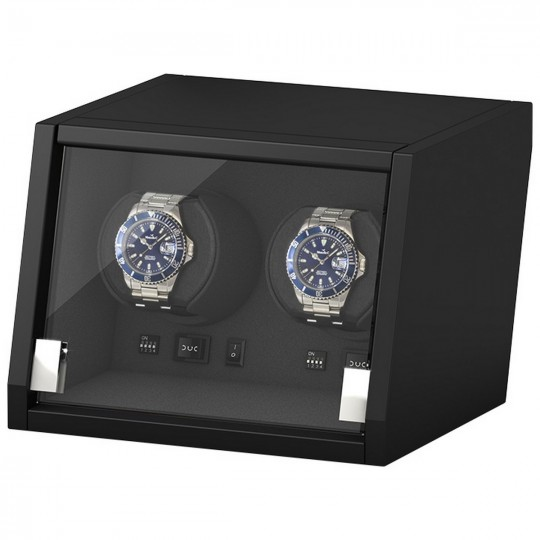 BECO watch winder Castle til 2 ure - mat sort træ