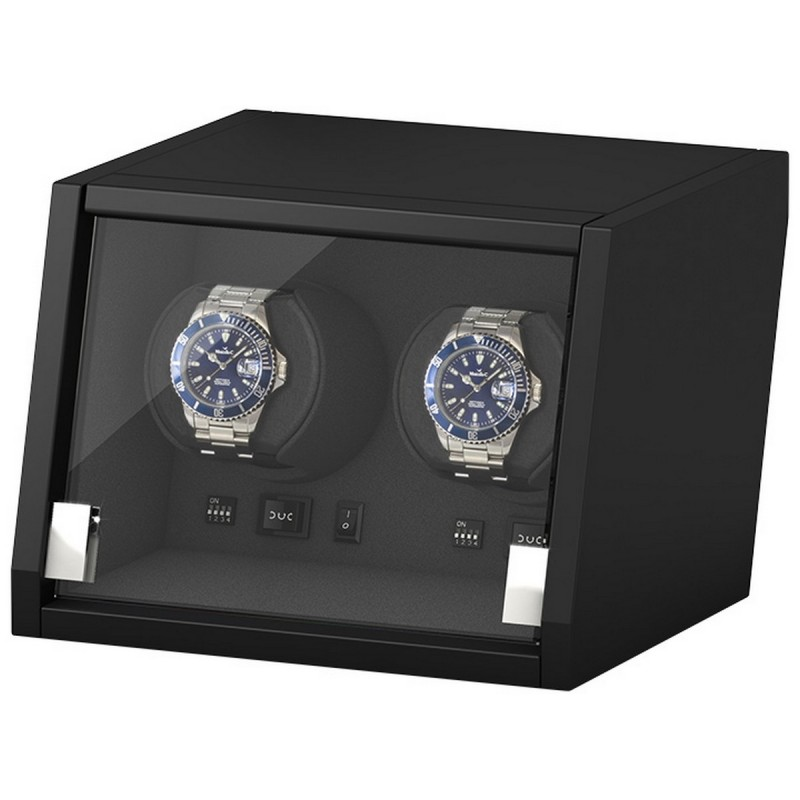BECO watch winder / urbevæger til 2 ure - mat sort træ